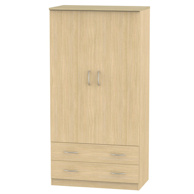 Avon 2 Door 2 Drawer 3ft Wardrobe