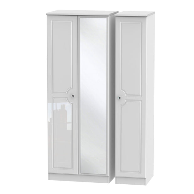 Balmoral 3 Door Tall Mirror Wardrobe