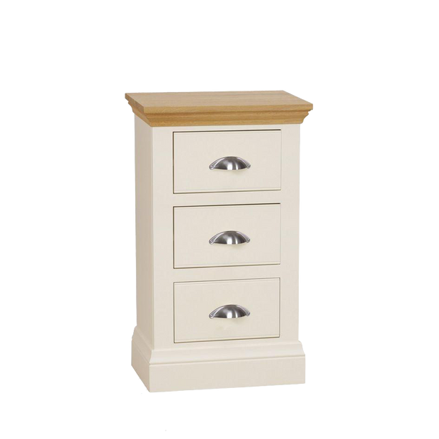 Coelo Bedroom Small 3 Drawer Bedside