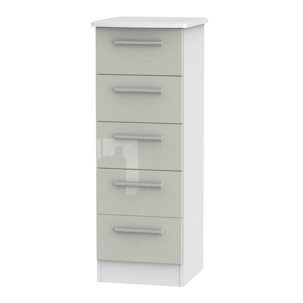 Knightsbridge 5 Drawer Narrow Chest
