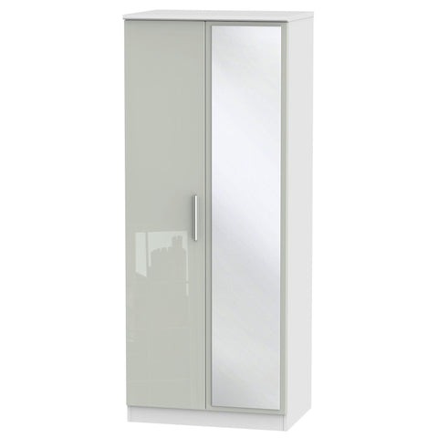 Knightsbridge 2ft 6in Plain Tall Mirror Wardrobe