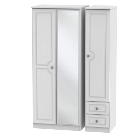 Pembroke 3 Door 2 Right Drawer Mirror Wardrobe