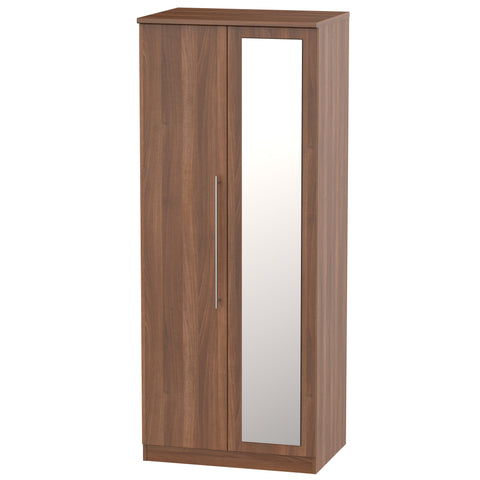 Sherwood 2 Door Mirror Wardrobe