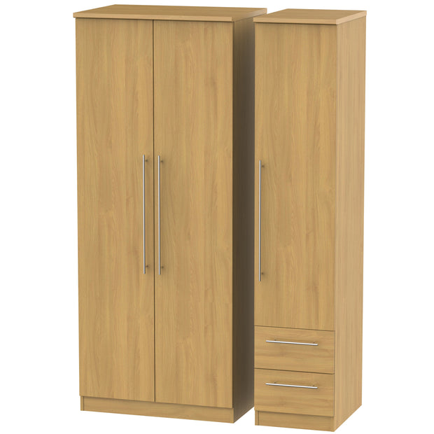 Sherwood 3 Door 2 Right Drawer Wardrobe
