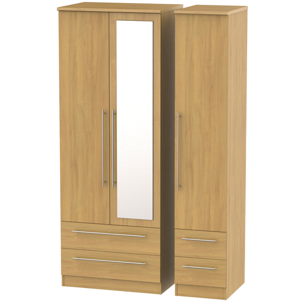 Sherwood 3 Door 4 Drawer Tall Combi Wardrobe