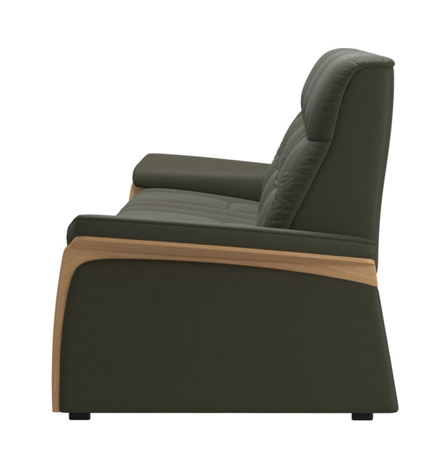 Stressless Mary 3 Seater - Paloma Dark Olive/Oak Wood