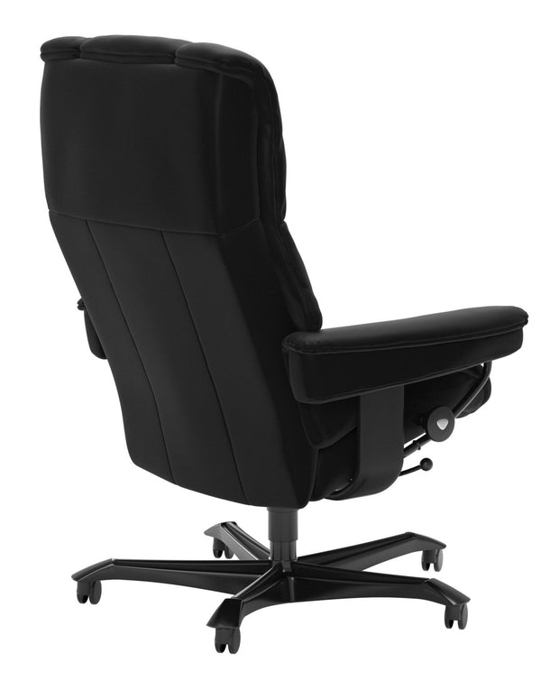 Stressless Mayfair Office Chair - Batick Black/Black Wood
