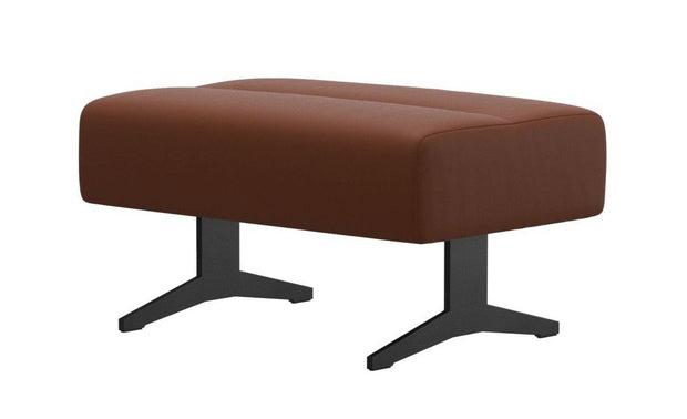 Stressless Stella Large Ottoman - Paloma Copper/Matt Black