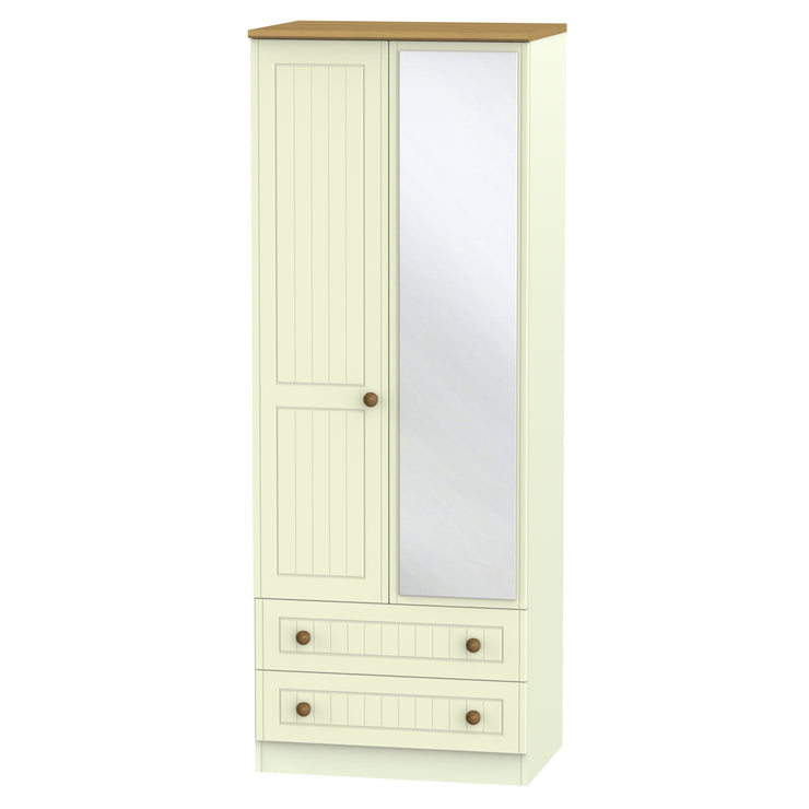 Warwick 2 Door Tall Mirror Combi Wardrobe