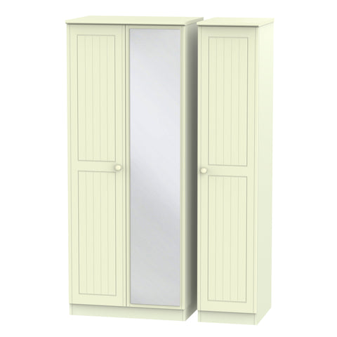 Warwick 3 Door Mirror Wardrobe