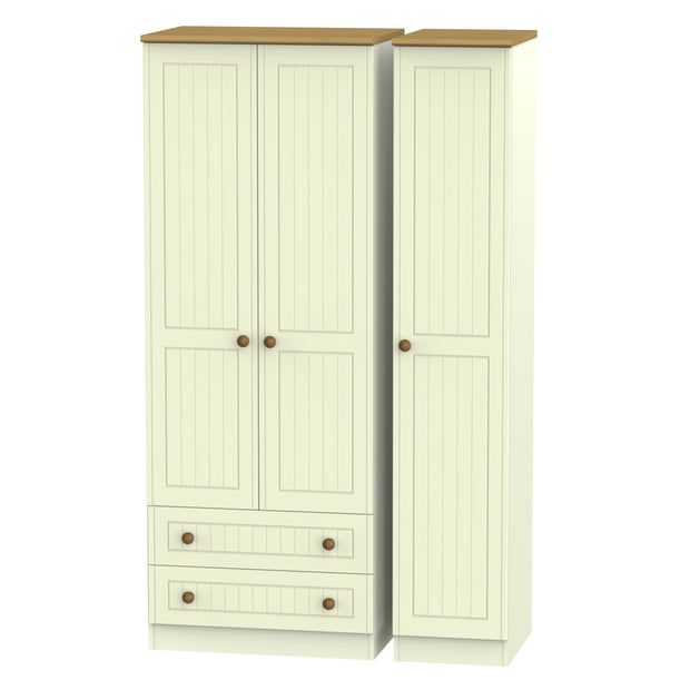 Warwick 3 Door 2 Left Drawer Tall Wardrobe