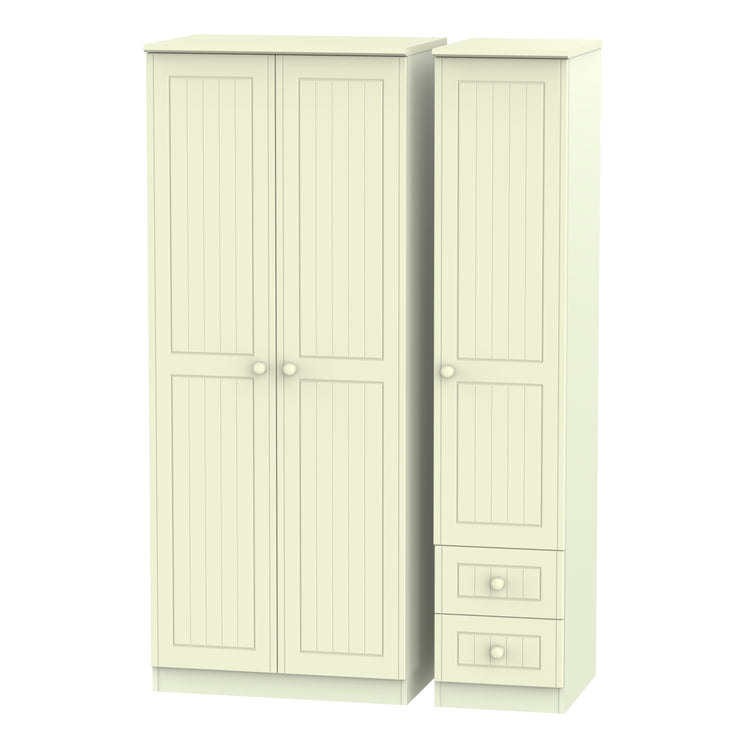 Warwick 3 Door 2 Right Drawer Plain Wardrobe