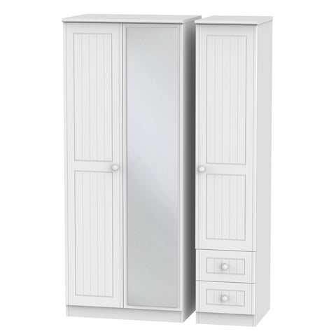 Warwick 3 Door 2 Right Drawer Mirror Wardrobe