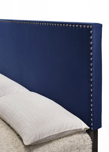 [Crown Mark] Erin Bed, Velvet Navy Nailhead (5271VLNV)