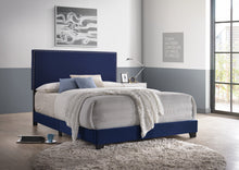 Load image into Gallery viewer, [Crown Mark] Erin Bed, Velvet Navy Nailhead (5271VLNV)