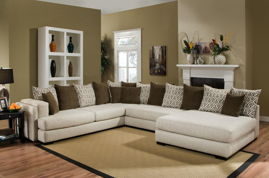[Albany] Credo Almond Sectional (880)
