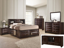 Load image into Gallery viewer, [Crown Mark] Emily Storage Dark Cherry Bedroom Set, King (B4265)