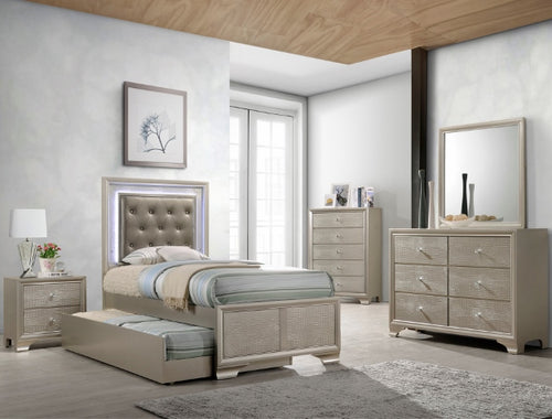 [Crown Mark] Lyssa Trundle Full-Sized Bedroom Set (B4399)