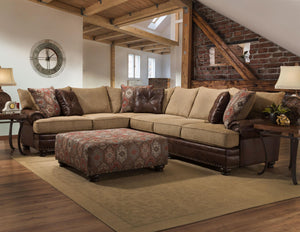 [Albany] Yellowstone Sublime Chocolate ,Sectional (8649)