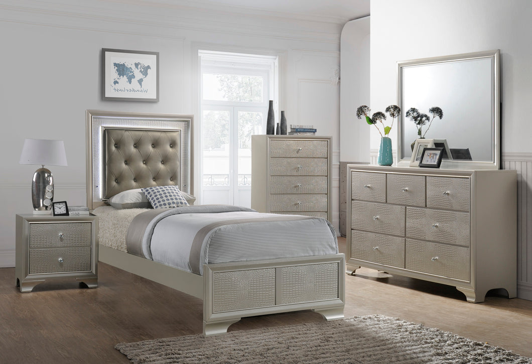 [Crown Mark] Lyssa Bedroom Set, Twin Sized (B4300)