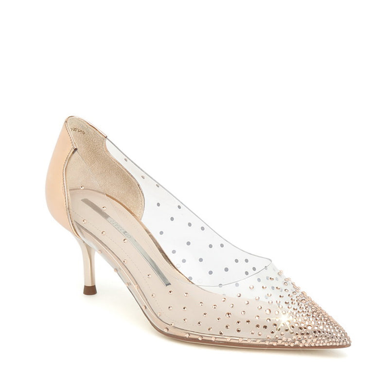STACCATO Crystal Embellished Vinyl Pump C94141OP Gold