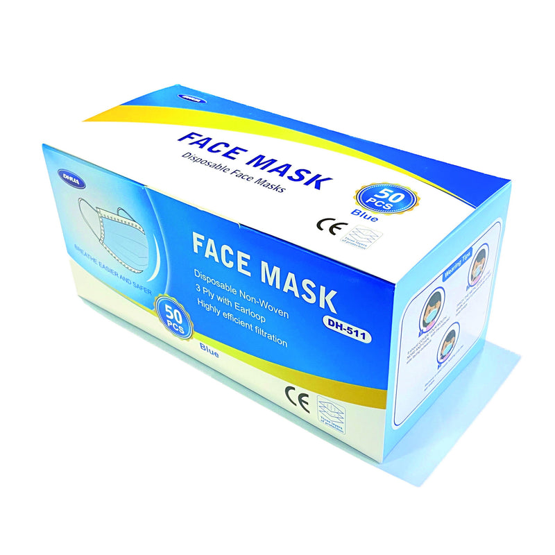 BUY 1 GET 1 FREE: DHUA 3 ply Disposable Face Mask (Adult)