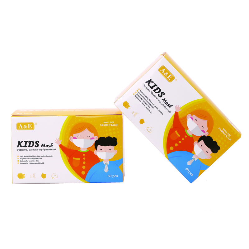 BUY 1 GET 1 FREE: A&E 3 ply Disposable Face Mask (Kids)