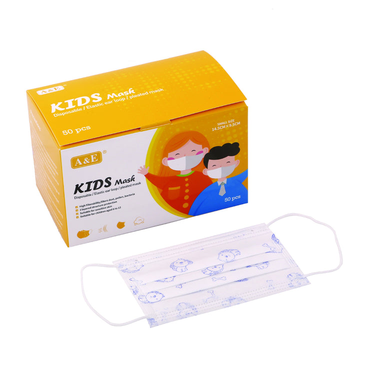 A&E 3 ply Disposable Face Mask (Kids)