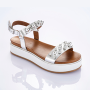 INUOVO Pearl Sandals Silver