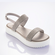 INUOVO Sparkly Thoughts Slingback Silver