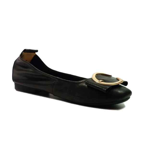 JWEST H Pumps Round A03011W Black