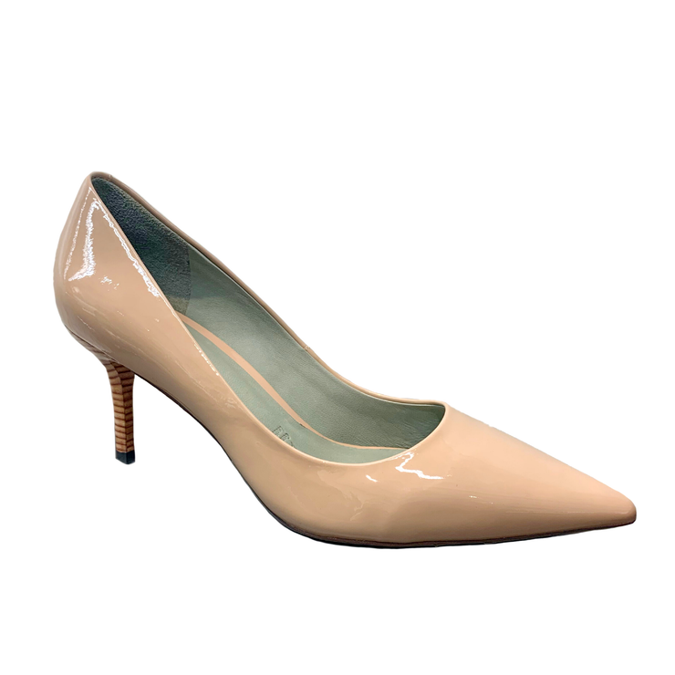 MS J : Patent Leather Heels Beige