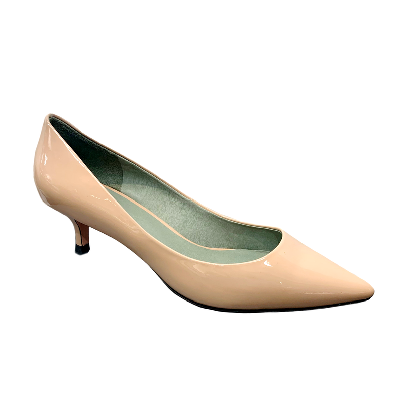 MS J : Basic Patent Low Heels Beige
