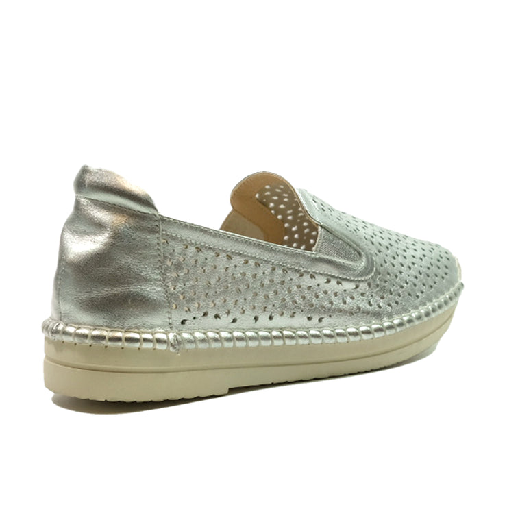 JWEST Laser Hole Sneakers A92071SK Pewter