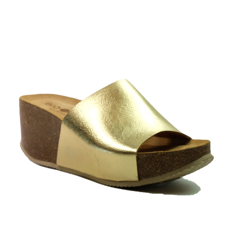 BIO BIO Basic Wedges Sandals BI-75099 Gold