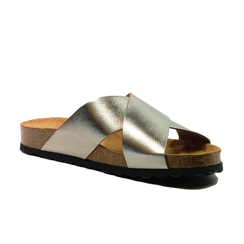 BIO BIO Summer Cross Sandals BI-73702 Pewter