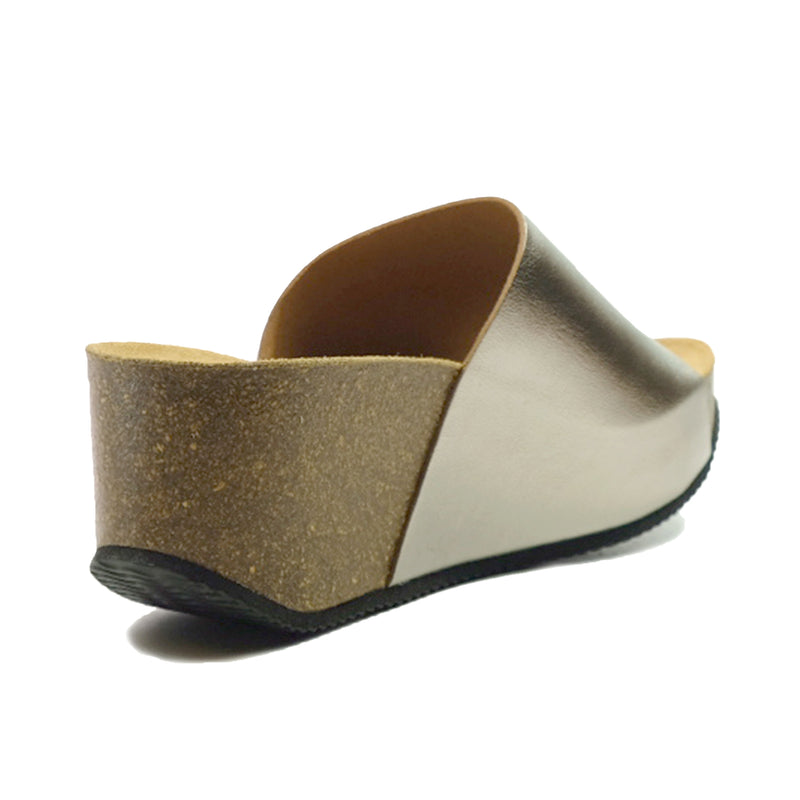 BIO BIO Basic Wedges Sandals BI-75099 Pewter
