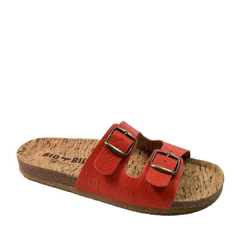 BIO BIO Vegan Summer Buckle Sandals BI-77578 Red