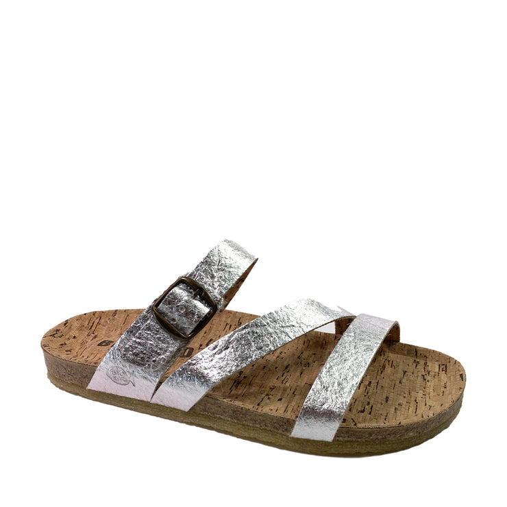 BIO BIO Vegan Summer Sandals BI-77579 Silver