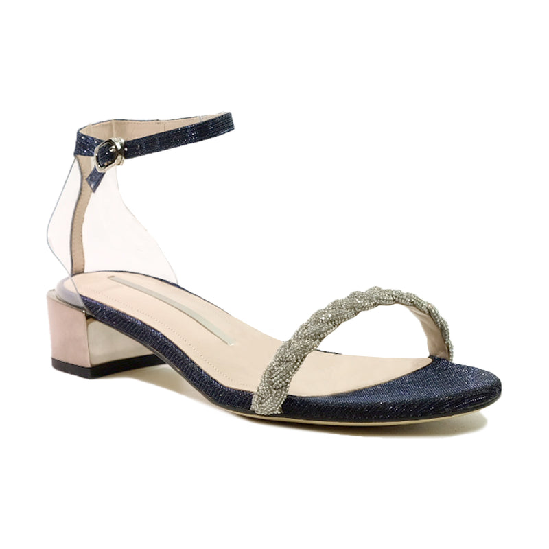 STACCATO Starry Night Crystal Braid Sandals C02092FH Navy