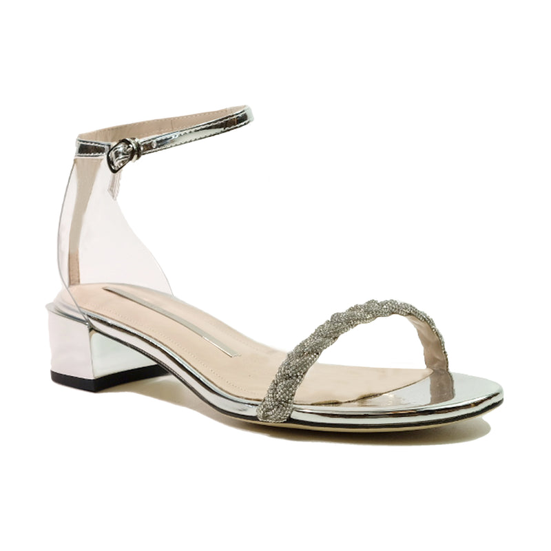 STACCATO Starry Night Crystal Braid Sandals C02092FH Silver