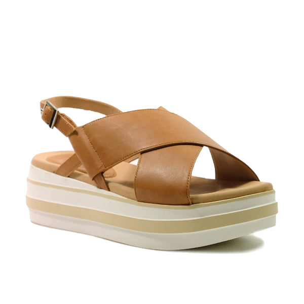 STACCATO Slingback Casual Wedge C02152CW Tan