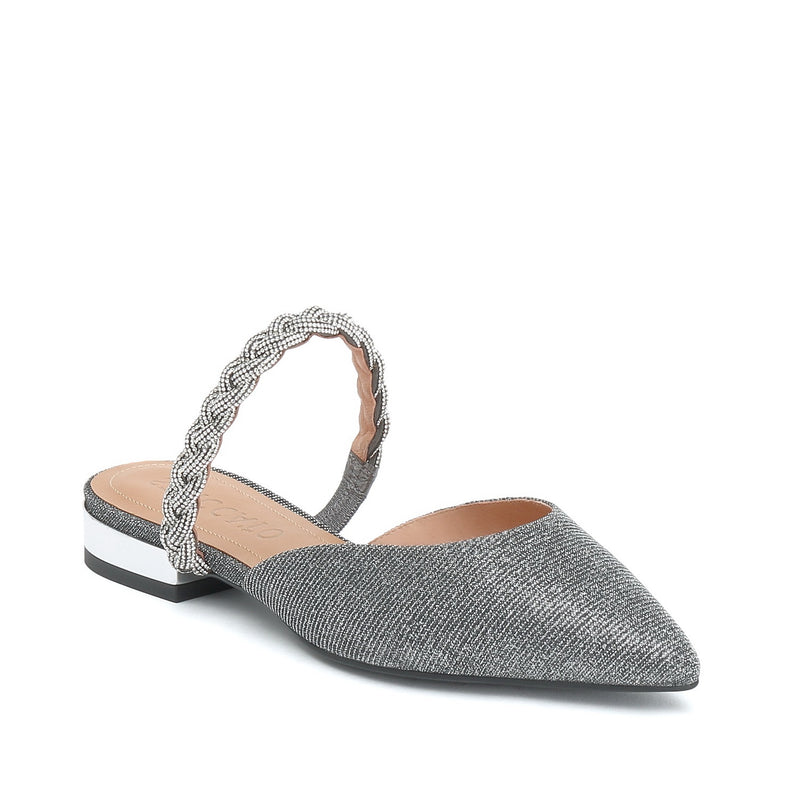 STACCATO Crystal Embellished Slingback Flats C93O0192H Silver