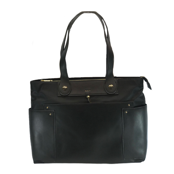 JWest Handbags Tote Shopper Bag Black