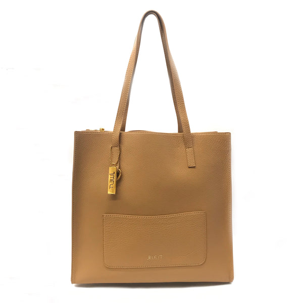 JWEST HB Leather Tote Bag Tan
