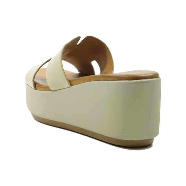 INUOVO Wedges Sandals Q-123039 Beige
