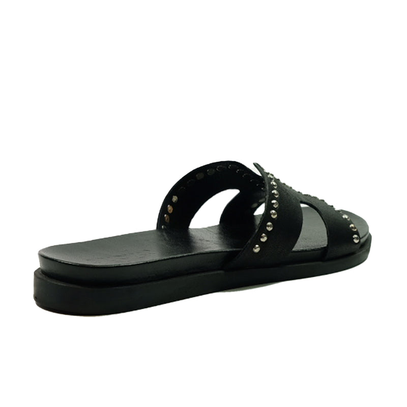 INUOVO Slide Flats Leather 92-105017 Black