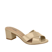 BEIRA RIO Cross Slip On Heels Beige