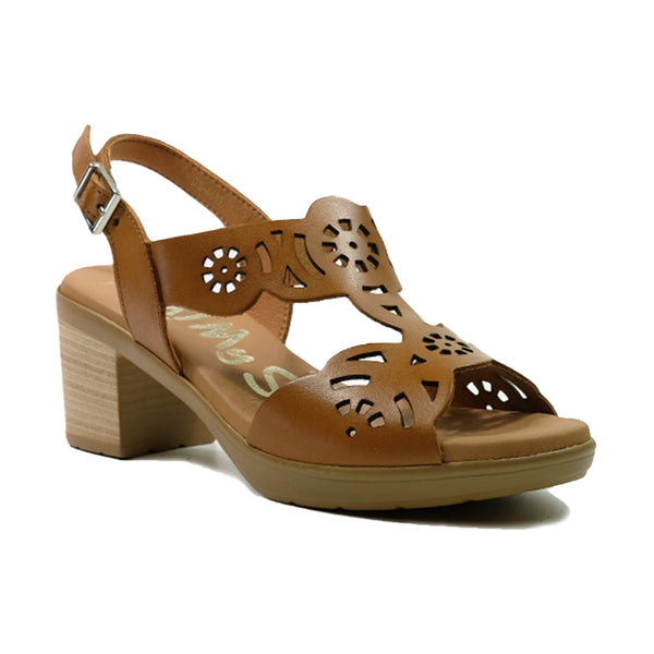 OH! MY SANDALS Heels Slingback Sandals OS-4689 Tan