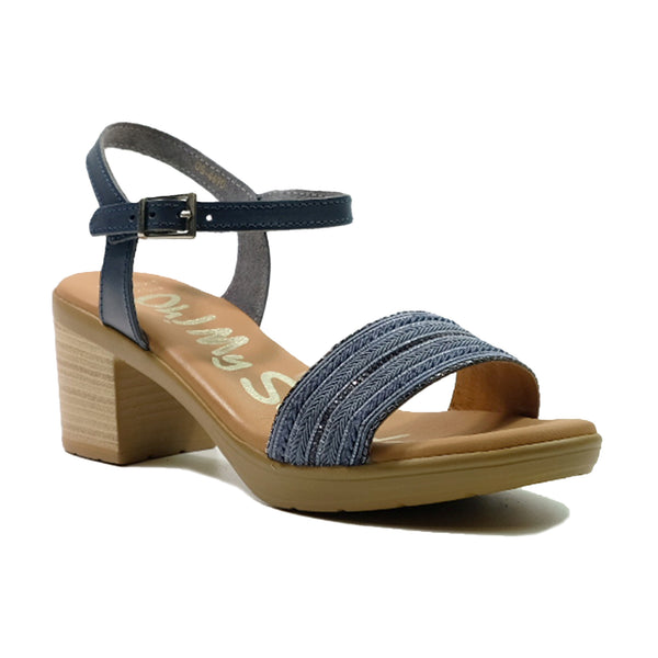 OH! MY SANDALS Heels Basic Strap Sandals OS-4690 Navy